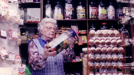 At Itteringham village shop in 1994. Pictured is shopkeeper Mrs Dorothy Fairhead who at that time ha