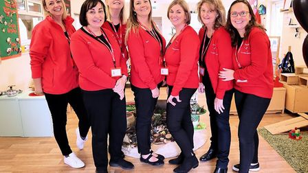 Ladybird Pre-school Nursery staff celebrate the launch of their newly-revamped headquarters. Picture