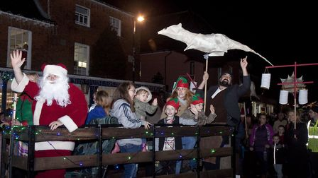 A scene from the Holt Christmas lights switch on. Picture: RODNEY SMITH