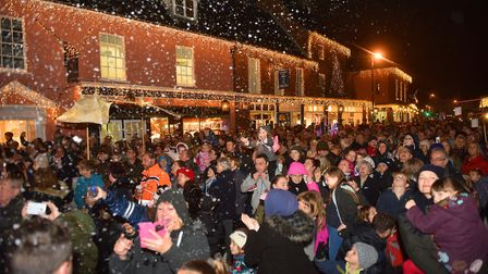 A scene from a previous Holt Christmas lights switch on. Picture: ANTONY KELLY