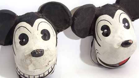 1930s German Disney Halloween masks. Picture: Keys Auctioneers and Valuers