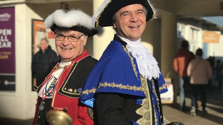 From left to right: Jason Bell, former town crier and Mark Northway, Cromer's new town crier. Pictur