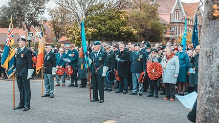 Remembrance Sunday 2019 is marked in Sheringham. Picture: Gareth Gabriel
