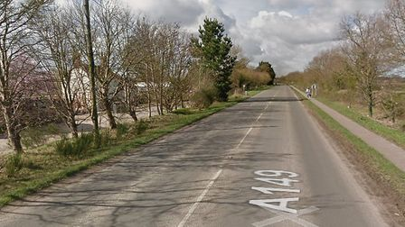 A car hit a deer on the A149 at Wayford Bridge, near Stalham. Picture: Google Maps