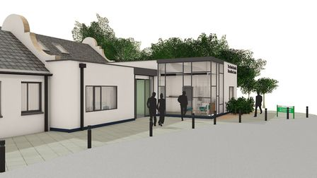 Artists impression showing the front of the planned North Norfolk Macmillan Centre. Photo: LSI Archi