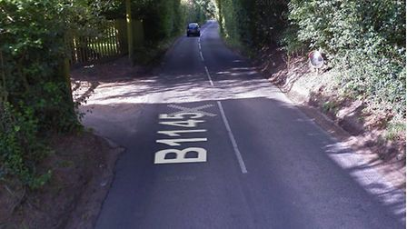 A car hit a tree in Mundesley. Picture shows Knapton Road, Mundesley. Picture: Google Maps