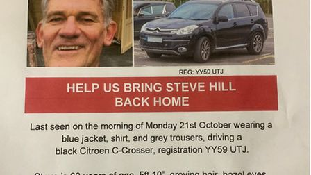 Poster for missing Steven Hill in Sheringham. Picture: supplied by Cassie Hill
