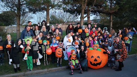 Cromer pumpkin parade, which saw more than 40 youngsters and their families parade through the town