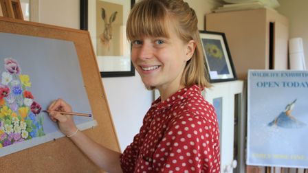 Artist Emily Rose, who has carved a successful career from painting.Photo: KAREN BETHELL