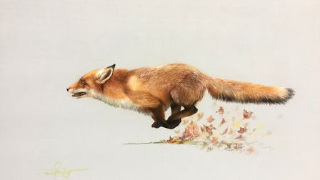 Fox, by Emily Rose, who has carved a successful career from painting.Photo: Emily Rose