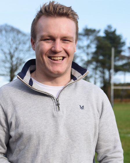 Holt Rugby Club team captain Henry Harrison during a break from watching England against South Afric