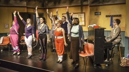 The Stepping Out cast at Sheringham Little Theatre. Picture: Sue Bignell