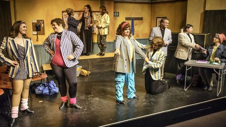 The cast of Stepping Out at Sheringham Little Theatre. Picture: Sue Bignell