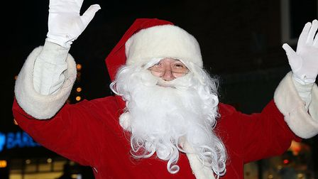 Father Christmas was at the Holt Christmas Lights switch-on 2019. Picture: Alan Raymond Palmer