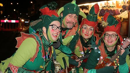 The Ukelele Elves at the Holt Christmas Lights switch-on 2019. Picture: Alan Raymond Palmer