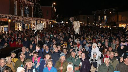 Thousands of people were at the Holt Christmas Lights switch-on 2019. Picture: Alan Raymond Palmer