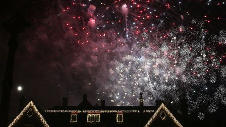 Fireworks at the Holt Christmas Lights switch-on 2019. Picture: Alan Raymond Palmer