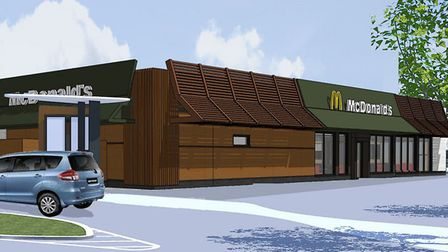This is how a new McDonald's in Cromer could look. Pictures: NNDC Planning documents/ McDonald's