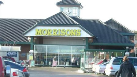 Morrison's supermarket in Cromer, where a purse was stolen from a carrier bag, hung over a trolley.