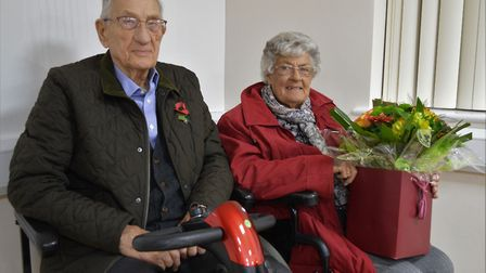 Nancy Downey and Jim Hardy. long-serving committee members of the Friends of North Walsham War Memor