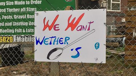 A sign calling for a Wetherspoon pub in North Walsham. Picture: Barry Holden