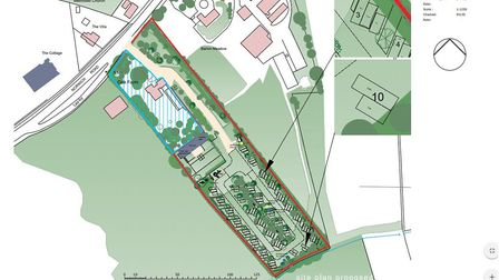 Proposed new Smallburgh campsite. Picture: NNDC planning documents/ Astill Planning