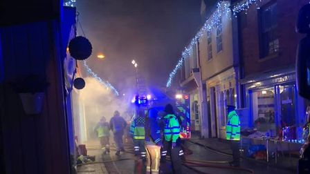 Dramatic pictures of the fire at Aylsham's Bonds chip shop. Pictures: Eclipse Hair Studio