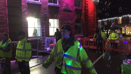 A fire broke out at a chip shop in Red Lion Street in Aylsham shortly before the town's Christmas li
