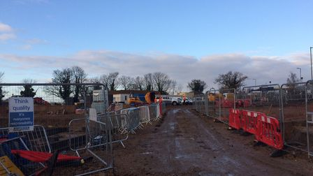 Retirement homes complex being built opposite Tesco in Stalham. Pictures: David Bale