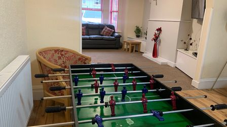 An activities room and lounge room at Dunsland care home in Mundesley. Picture: Stuart Anderson