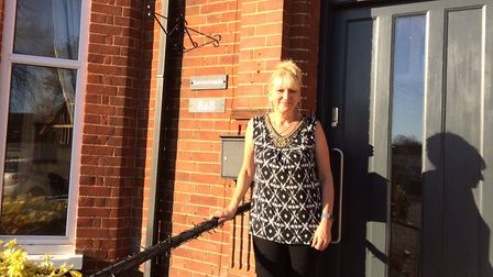 Host Sue Jones outside the new B&B Sunnymeade and cafe in Buxton. It used to be a care home. Picture