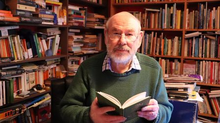 Keith Skipper reading from his new book, the Norfolk Almanac. Picture: Stuart Anderson