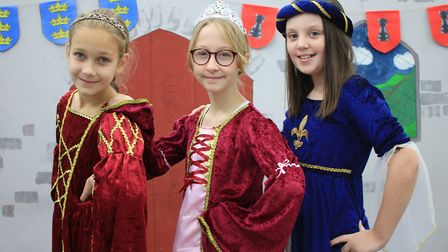 What a Knight! princesses (from left): Freya, Scarlett and Freya.Photo: KAREN BETHELL