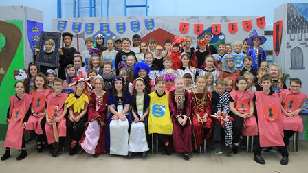 The cast of Cromer Junior School's Christmas production, What a Knight!Photo: KAREN BETHELL