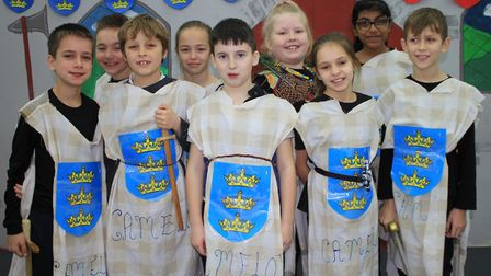 Year 5 cast members of Cromer Junior School's Christmas production What a Knight!Photo: KAREN BETHEL