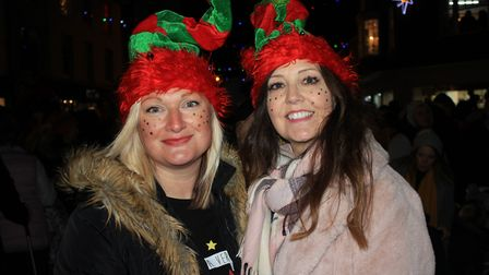 Smiles all round at Cromer Christmas lights switch-on.Photo: KAREN BETHELL