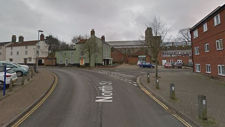 The collision happened in North Street, North Walsham, near the junction of Vicerage Road. Picture: