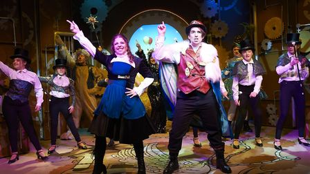 Dick Whittington and his Cat. Pictured is Danniella Schindler, Kyle Fraser, and cats and dogs. Pictu