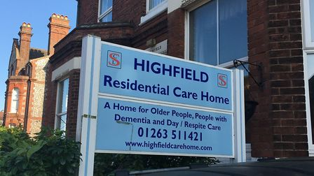 The former Highfield residential care home in Cromer could be turned into family homes. Photo: Jess