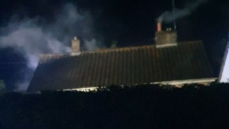 There was a fire in Norwich Road, Northrepps, overnight. Picture: Supplied