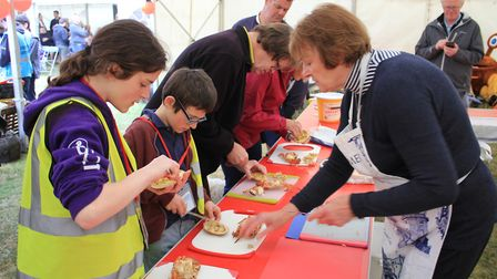 A crab dressing workshop as part of the Crab and Lobster Festival. Picture: KAREN BETHELL
