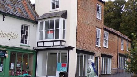 Proposed site for new optical centre and clinic, next to Shambles, in North Walsham. Picture: NNDC P