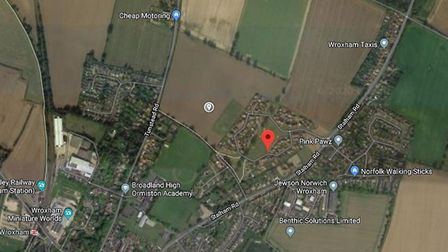 Where the Brook Park II development would be built in Hoveton. Image: GoogeMaps