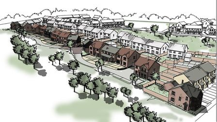 Street scene for phase 2 of Brook Park, Hoveton development. Picture: Persimmon Homes