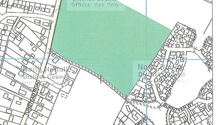 Site of proposed major development off Tunstead Road in Hoveton. Picture: NNDC planning documents