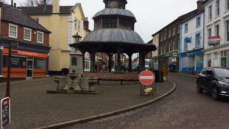 Footfall in North Walsham town centre is down due to the gas mains work. Pictures: David Bale