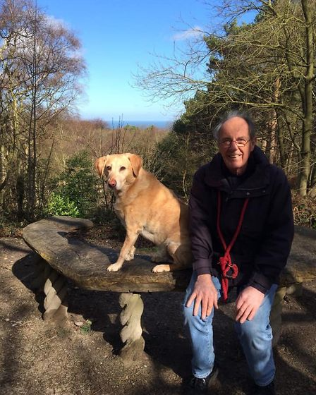 Peter Wragg, who lived in Sheringham, with Tommy, one of his beloved dogs. Picture: Supplied by Mill