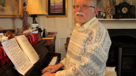 Composer Geoff Cummings-Knight, who is set to hear his self-penned symphony performed in public for