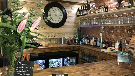 The new bar area in the refurbished Welly's Smokehouse on Garden Street, Cromer. Picture: Neil Didsb