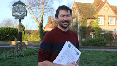 Bodham parish councillor Callum Ringer, who is hoping to open a community shop run by a mix of paid